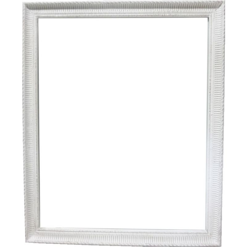 Miroir rectangulaire blanc lign saulaie for Miroir rectangulaire