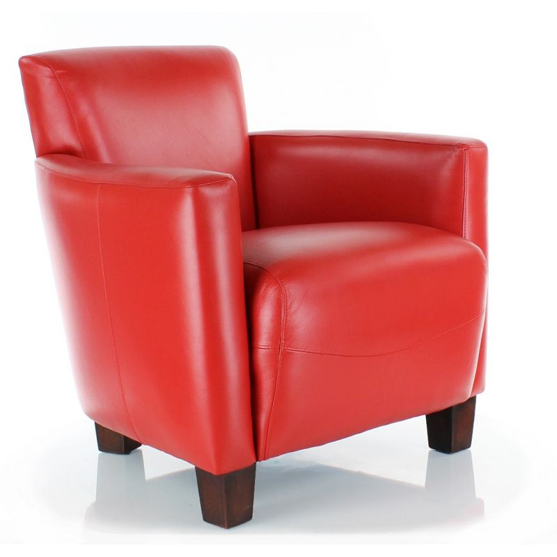 fauteuil club cuir rouge alma ebay. Black Bedroom Furniture Sets. Home Design Ideas