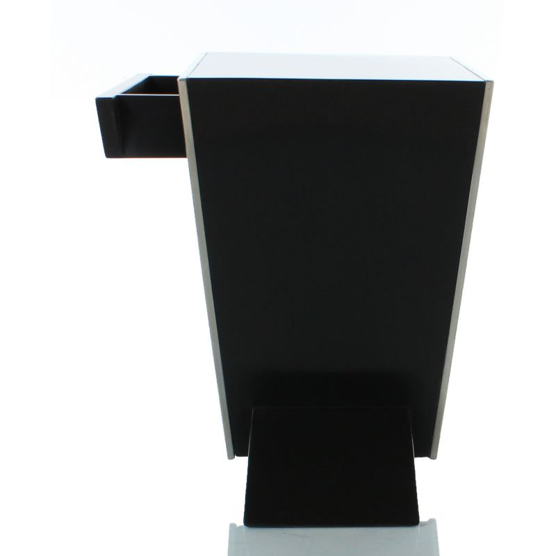 Table de chevet design noire delta saulaie - Table de chevet noir ...