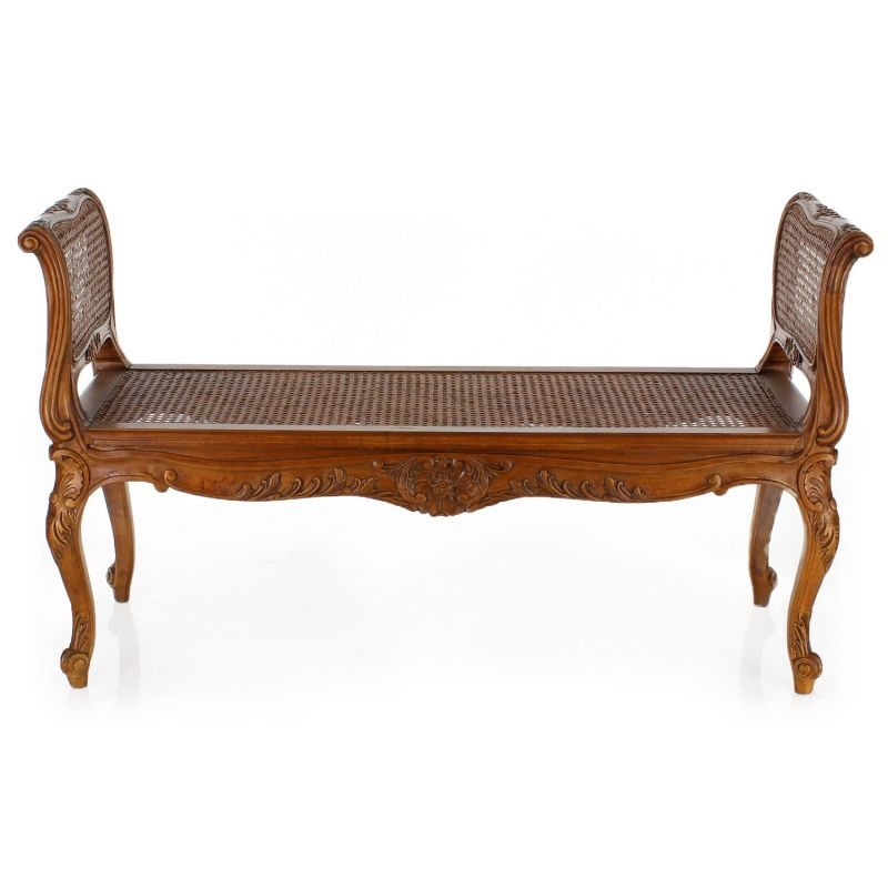 louis xv cane bench seat saulaie. Black Bedroom Furniture Sets. Home Design Ideas