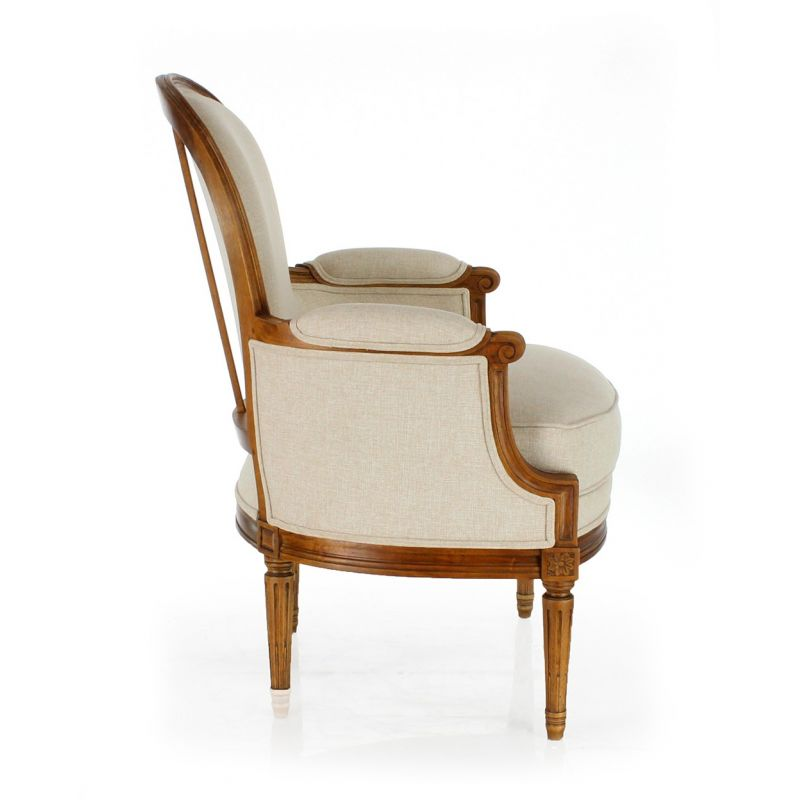 fauteuil berg 232 re moulur 233 e louis xvi saulaie