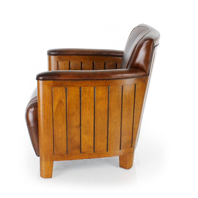 fauteuil club cuir marron vintage cognac ebay. Black Bedroom Furniture Sets. Home Design Ideas