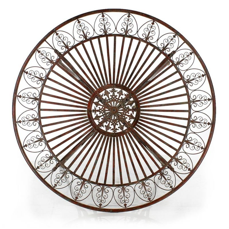 Table de jardin ronde en fer pliante des for Table jardin metal ronde pliante