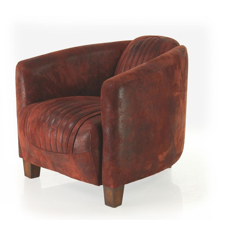 fauteuil club tissu rouge sport op ra saulaie. Black Bedroom Furniture Sets. Home Design Ideas