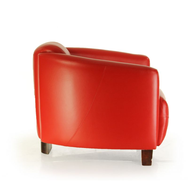 fauteuil club cuir rouge op ra ebay. Black Bedroom Furniture Sets. Home Design Ideas