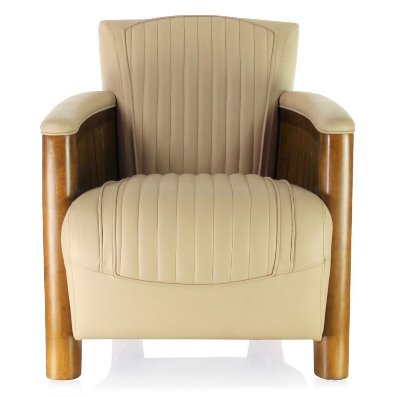 fauteuil club cuir beige cognac ebay. Black Bedroom Furniture Sets. Home Design Ideas