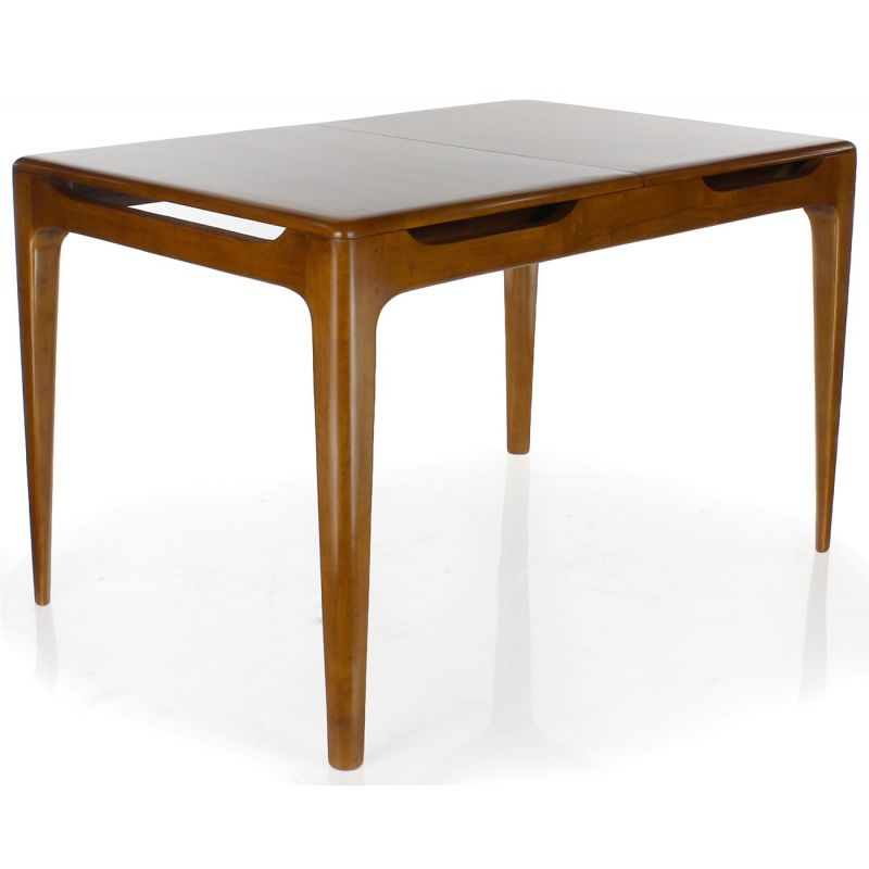 Table rectangulaire rallonges en bois massif lund saulaie - Table rallonge design ...