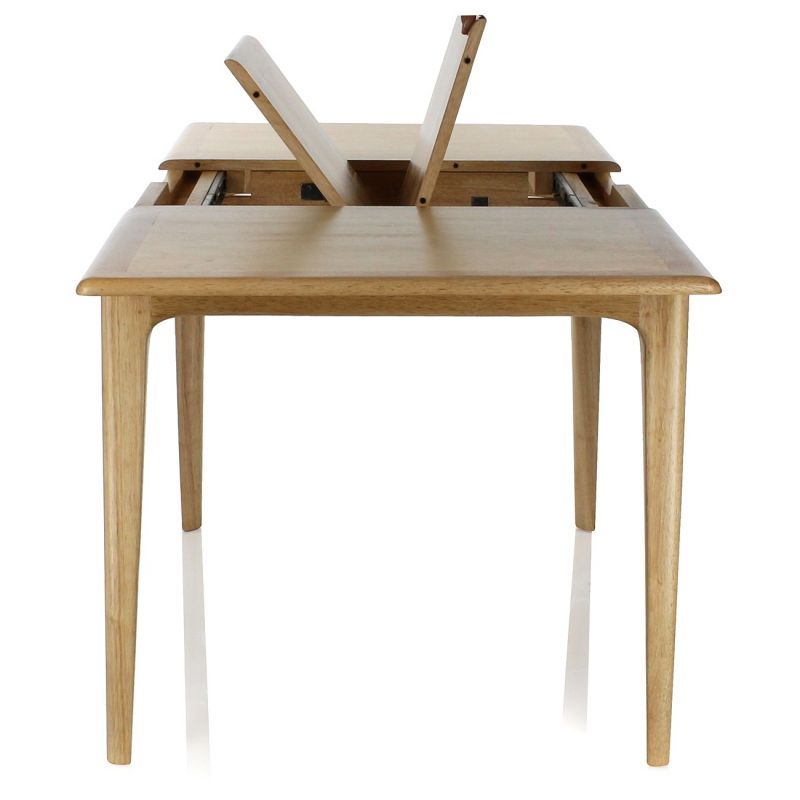 Table de salle manger rectangulaire rallonge lund saulaie - Solde table a manger ...