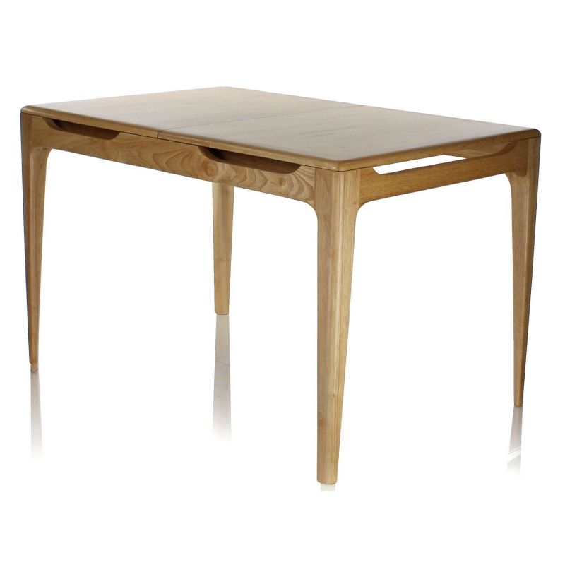 Table bois rallonge for Table a rallonge design scandinave