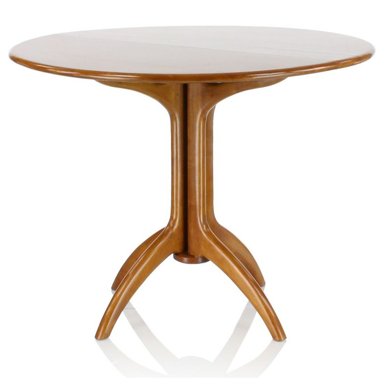 Table pliante ronde en bois saulaie - Table ronde pliante bois ...