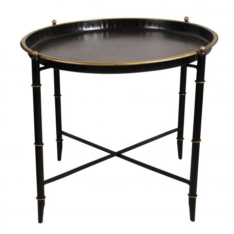 Table d 39 appoint ronde vatel saulaie - Table d appoint ronde ...