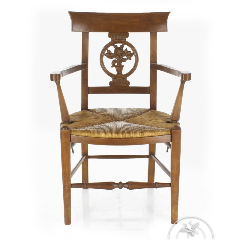 fauteuil ancien assise paillee