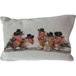 Coussin Rossignols Cow-boys
