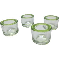 Round Green Photophores, Set of 4