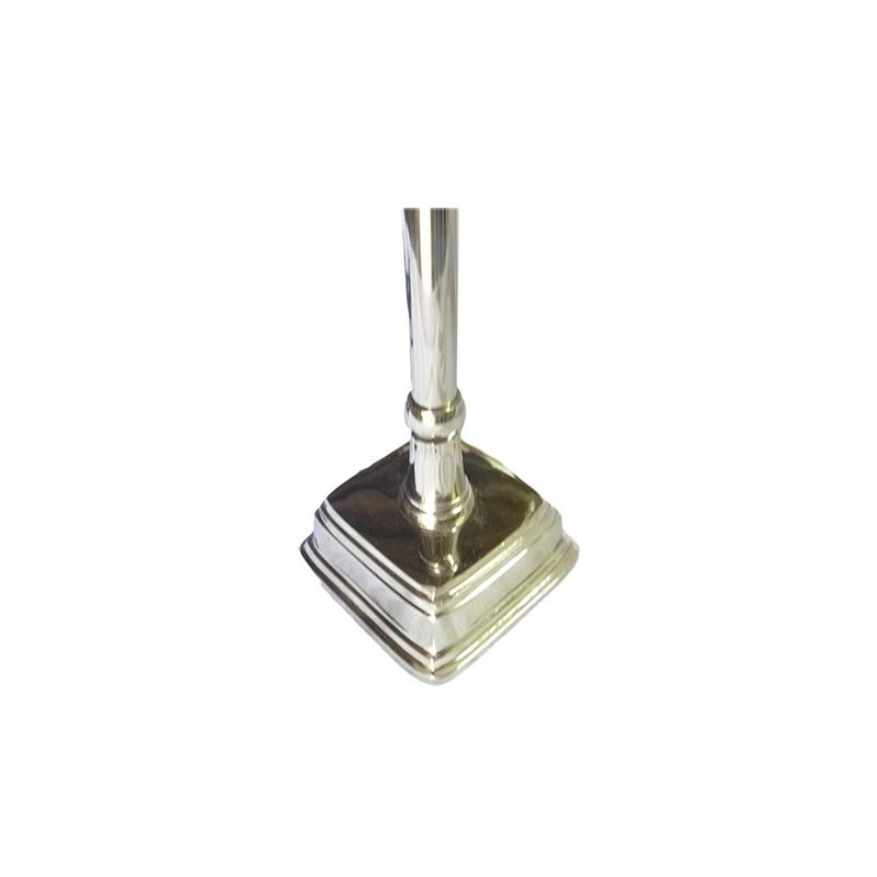 Small silver-plated metal lamp