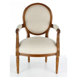 Louis XVI moulded armchair - Médaillon