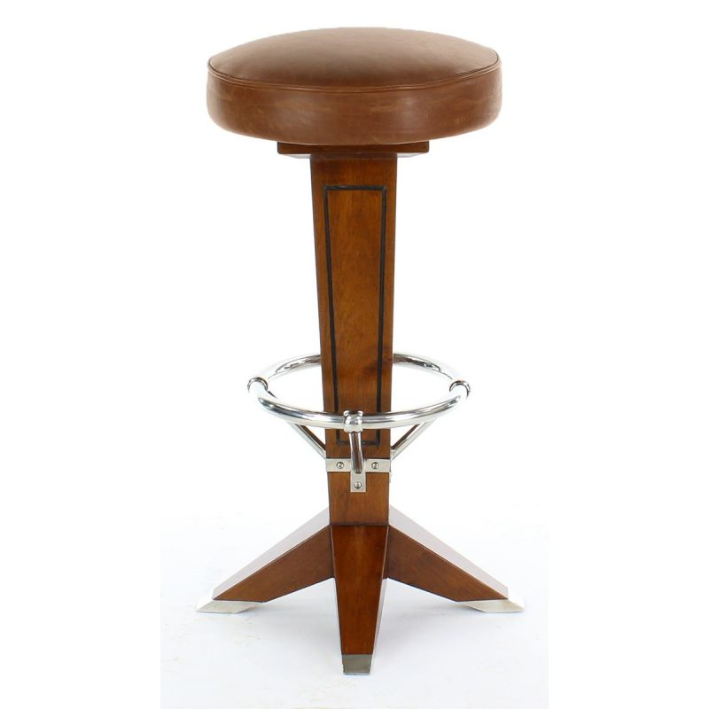 Vintage wood and leather bar stool La P233rouse Saulaie : vintage wood and leather bar stool la parouse from www.saulaie.com size 800 x 800 jpeg 39kB
