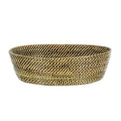 Woven bread basket in water vine