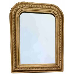 Louis Philippe mirror with lattice pattern, small