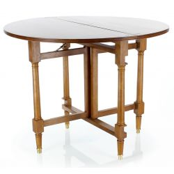 Directoire Round Dining Table in Wood
