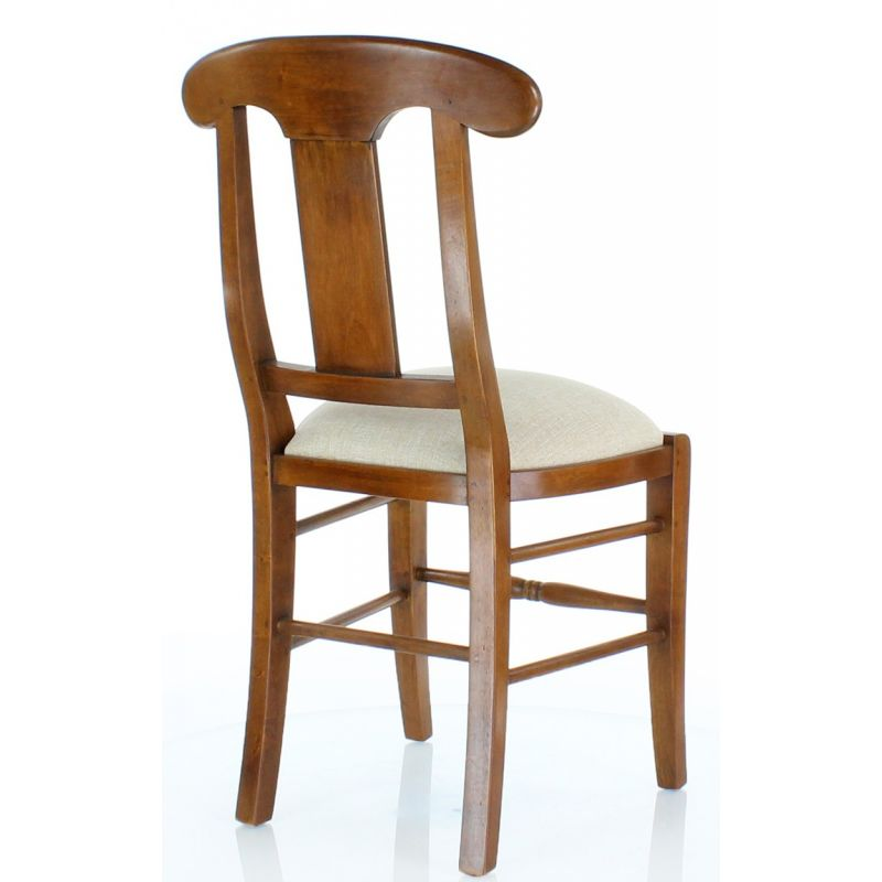 Chair in solid wood and fabric - Flower Vase