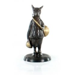 Bronze Fox with Hunting Horn