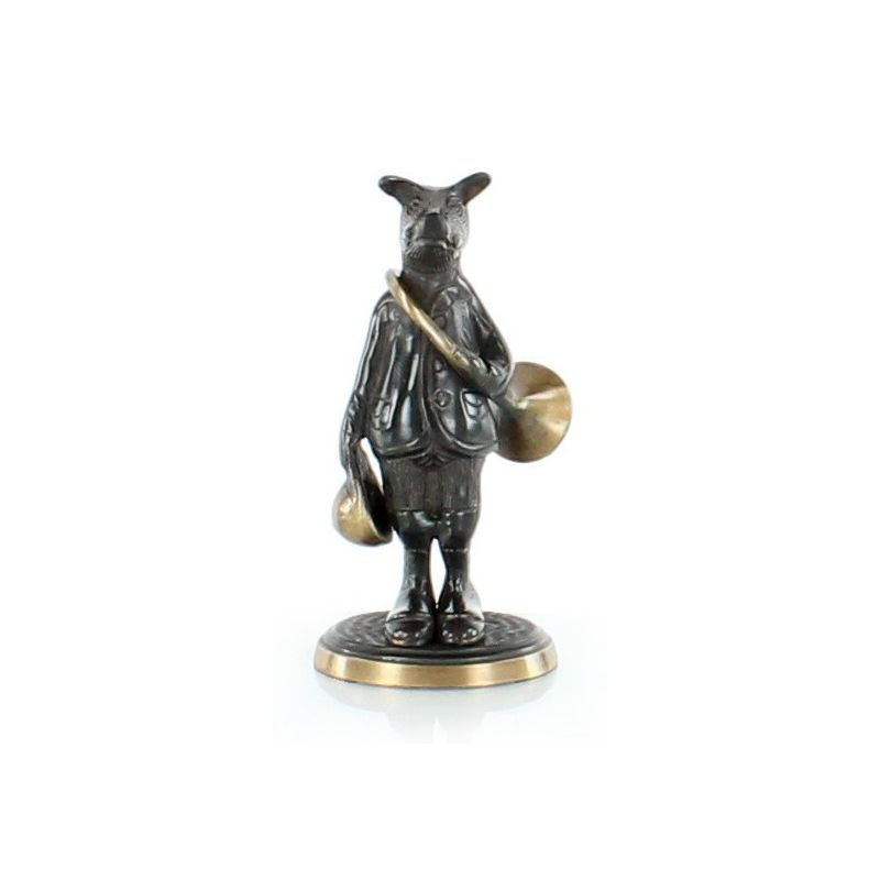 Boar with Bronze Hunting Horn