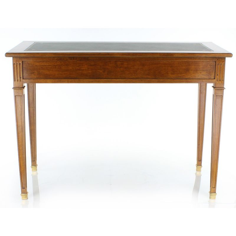 Wood and leather desk 1m10 - Directoire