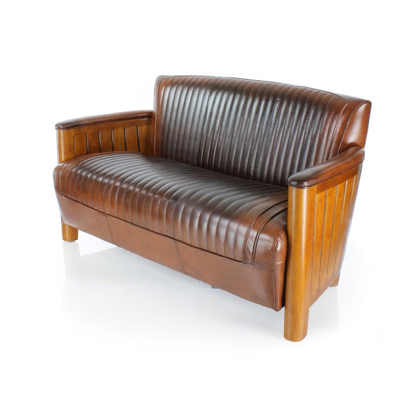 canap club cuir marron vintage cognac saulaie. Black Bedroom Furniture Sets. Home Design Ideas