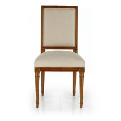 Trianon Louis XVI Chair, Beige Fabric