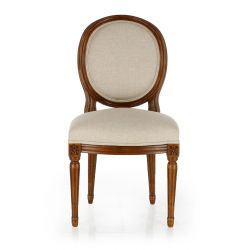 Médaillon Louis XVI Chair in Wood and Fabric