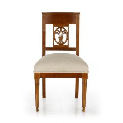 Wood and Fabric Chair - Palmette