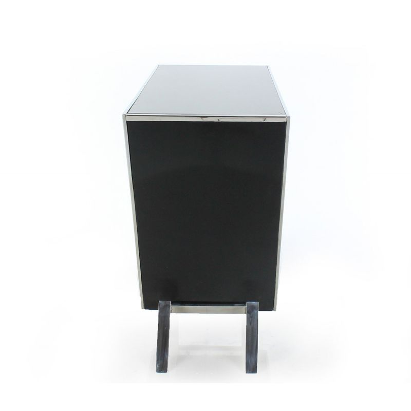 Black Designer Chest of Drawers - Bourget