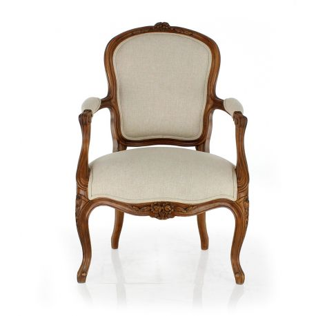 fauteuil louis xv cabriolet saint dominique saulaie. Black Bedroom Furniture Sets. Home Design Ideas