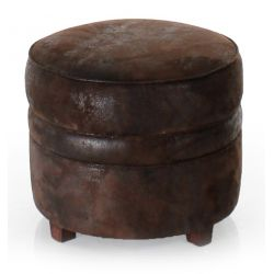 Opera Chocolate Brown Fabric Ottoman