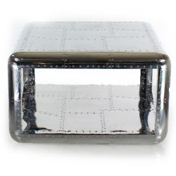 Square aluminum coffee table - Baron