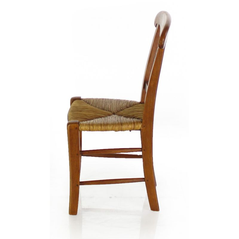 Child's wood and rush chair - Palmette