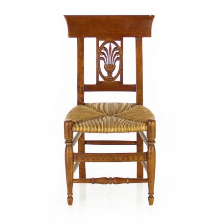 Wood and rush child's chair - Rameau