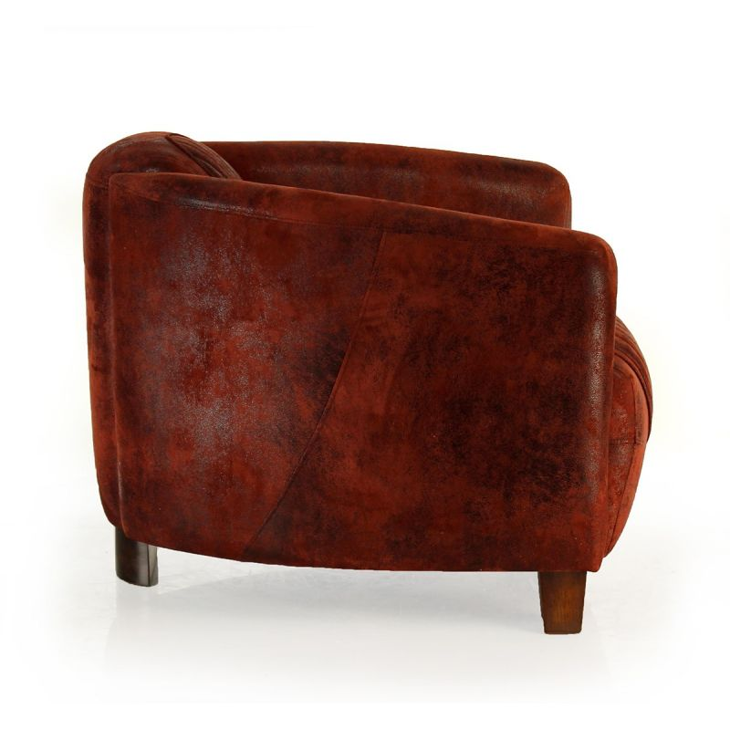 fauteuil club tissu rouge op ra sport saulaie. Black Bedroom Furniture Sets. Home Design Ideas