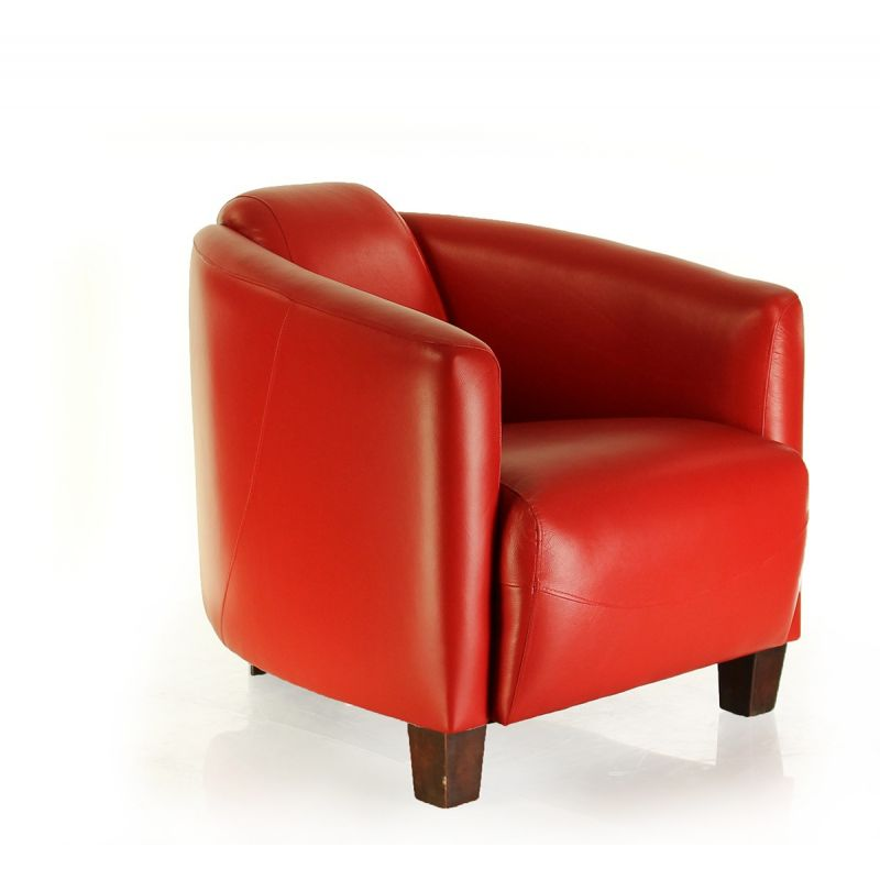 red leather club chair op ra saulaie. Black Bedroom Furniture Sets. Home Design Ideas