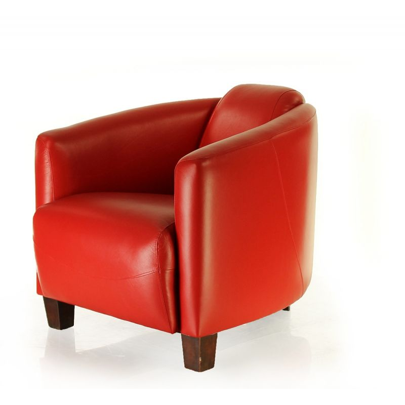 Red leather club chair - Opéra