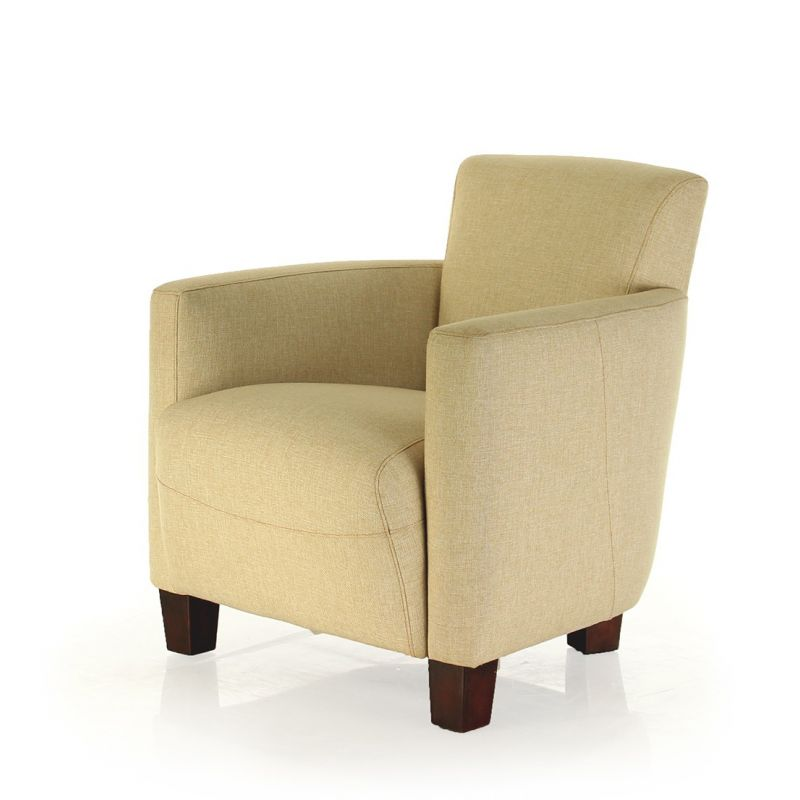 Club armchair beige fabric - Alma