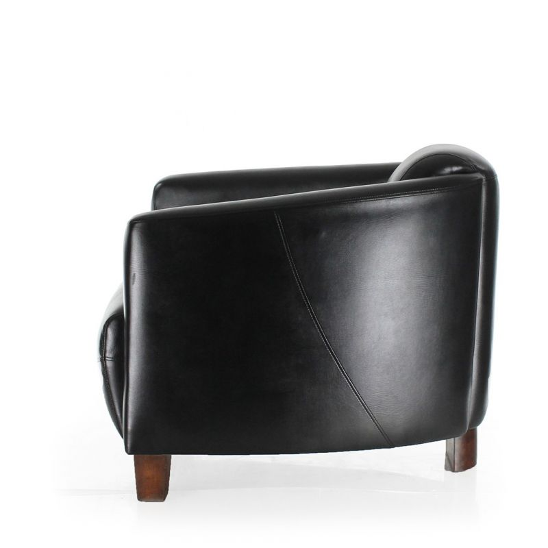 Black leather club chair - Opéra