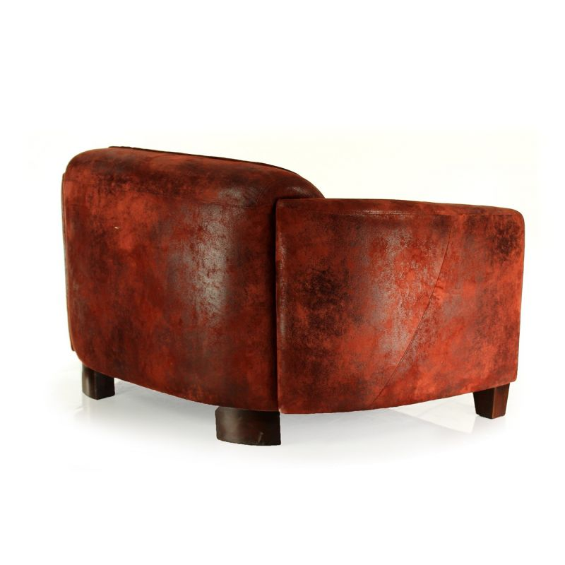 Club sport sofa in red fabric - Opéra