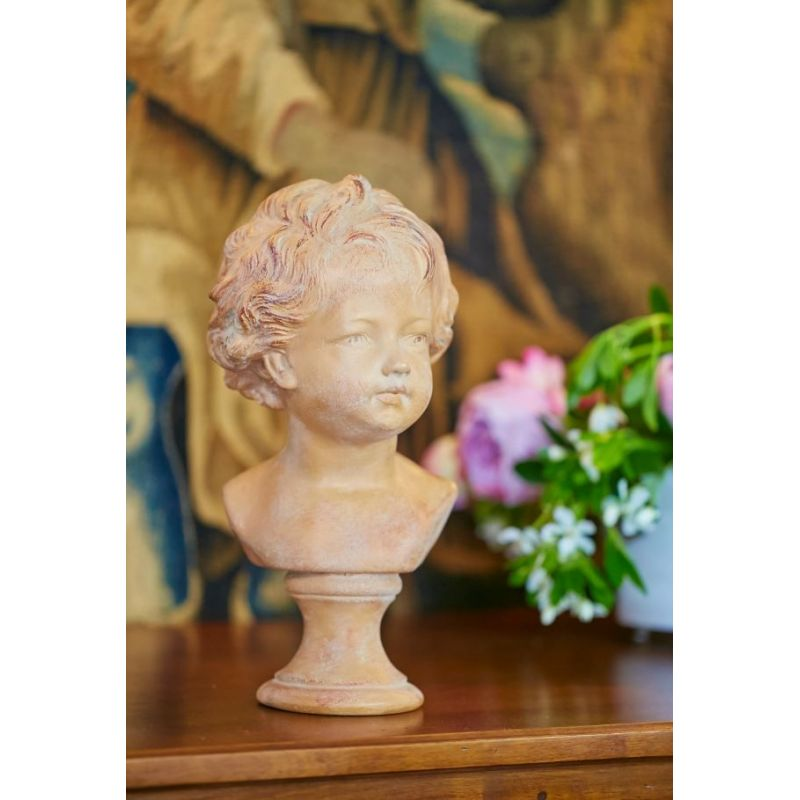 Plaster bust Antoine brown patina finish