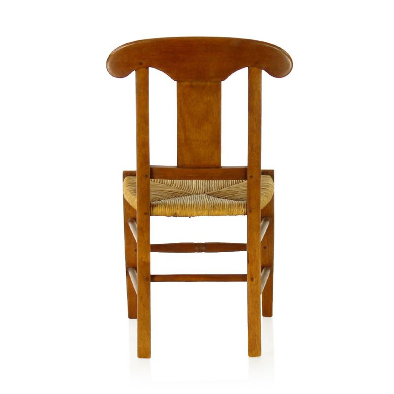 Child's wood and straw chair - Flower vase