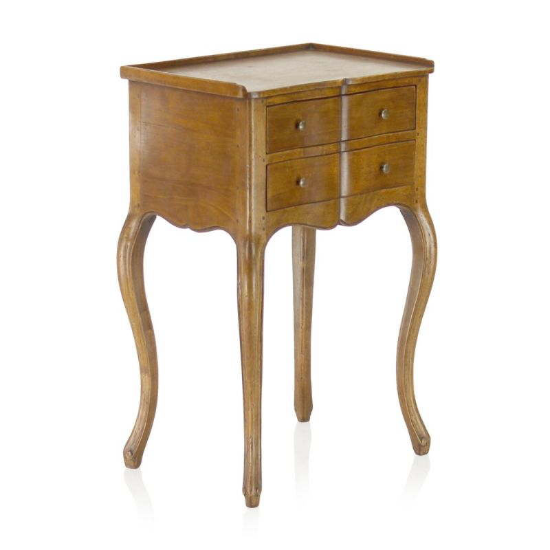 louis xv nightstand with drawer saulaie. Black Bedroom Furniture Sets. Home Design Ideas