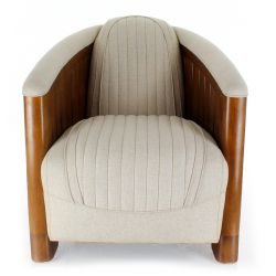 Club Easychair in beige fabric - La Pérouse