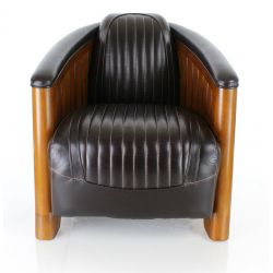 Club Easychair brown leather - La Pérouse