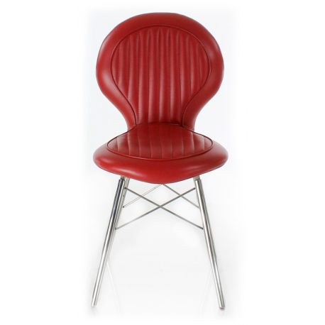Design chair in red leather - Artis
